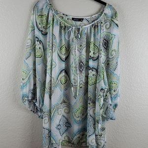a.n.a. | Women's 3/4 Sleeve Blouse 3X